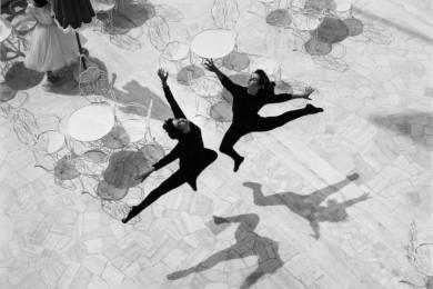 Mario De Biasi, Balletto, 1953, stampa d'epoca ai sali d'argento, cm 18x18,7, ed. aperta, courtesy Admira - ©Archivio De Biasi