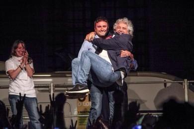Di Battista con Beppe Grillo