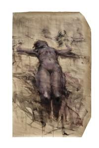 Alessandro Papetti, Nudo disteso, 2015, olio su carta, cm 197x125 jpg