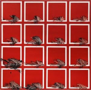 Emilio Scanavino, Alfabeto senza fine, 1974, olio su tela, 80x80 cm