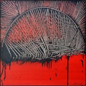 Emilio Scanavino, L'Arco, 1972, olio su tela, 60x60 cm