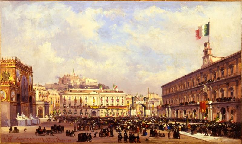 25. 1799-FP0808_Caffi Ippolito_Napoli-Arrivo di Vittorio Emanuele II_inv 1799_foto Franzini 2005_h