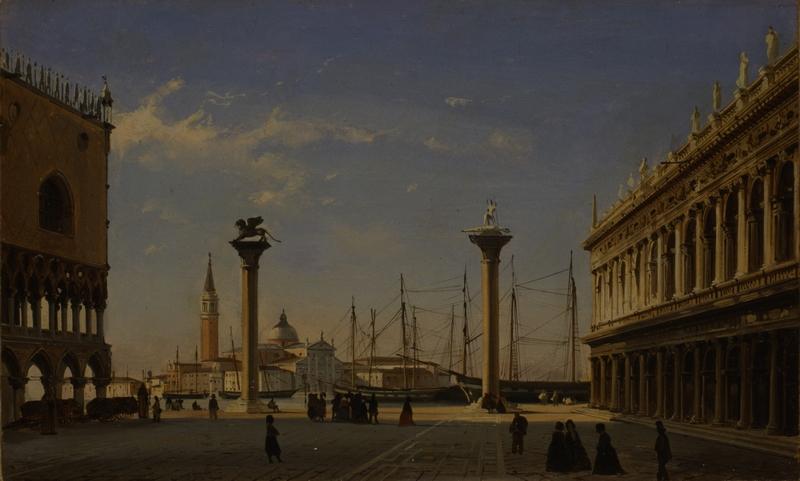 4. 1697-FP0064_Caffi Ippolito_Venezia-Piazzetta effetto di mattina_inv 1697_foto Fotoflash 1998_h