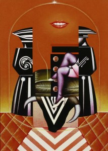 Sergio Sarri, Studio per Belle de Jour (omaggio a Bunuel), 1985, acrilico su tela, 55x40cm
