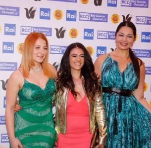 Sara Galimberti, Giusy Versace ed Elisa D'Ospina