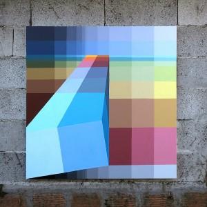 Alberonero, 2701. Acrilico su tela, 100x100 cm, 2017