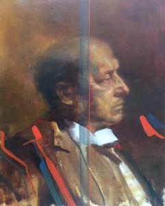 Massimiliano Alioto, Henry James, olio su tela, 40x50 cm, 2017.