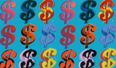 Andy Warhol, Dollar Sign 9 285, 1982