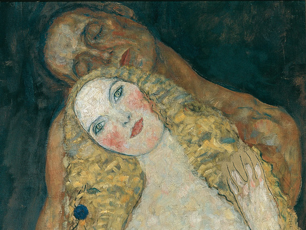 Gustav Klimt, Adamo ed Eva (incompiuto), 1917-1918, 173 × 60 cm, Österreichische Galerie Belvedere, Gustav Klimt [Public domain or Public domain], via Wikimedia Commons