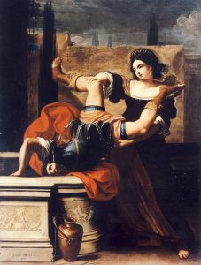 Elisabetta Sirani,Timoclea uccide il capitano di Alessandro Magno, 1659, olio su tela, Museo Nazionale di Capodimonte