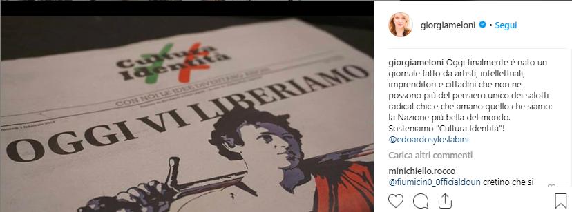 """Giorgia Meloni: """"Matteo stacca la spina ai 5s"""""""