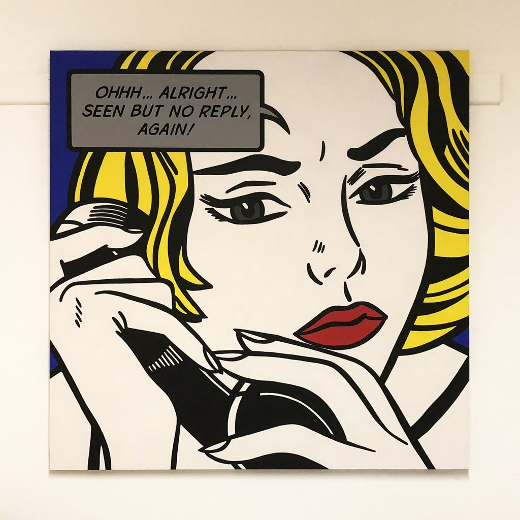 Francesca Borroni reinterpreta Lichtenstein per il progetto StArt a cura di Angelo Crespi al Mondadori Store di Milano