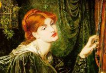 Dante Gabriel Rossetti, Veronica Veronese, 1872, olio su tela, Delaware Art Museum, ph. Art Renewal Center [dettaglio] Dante Gabriel Rossetti [Public domain]