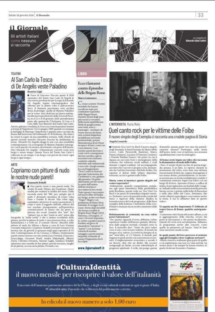 il giornale off sabato 18 gennaio 2019