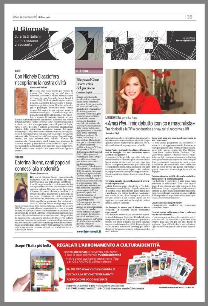 il giornale off sabato 22 febbraio 2020