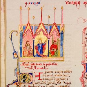 Capoverso estratto dal Codice Miniato di Piero Colombani