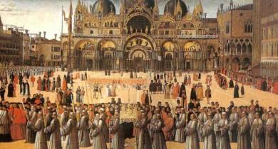 Gentile Bellini, processione a S.Marco