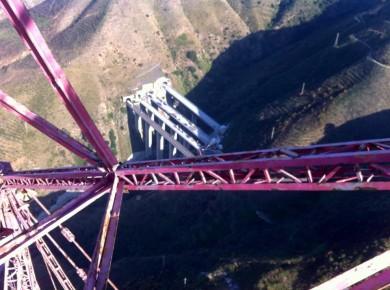 Vista mozzafiato dal pilone dello Stretto,  lato calabrese