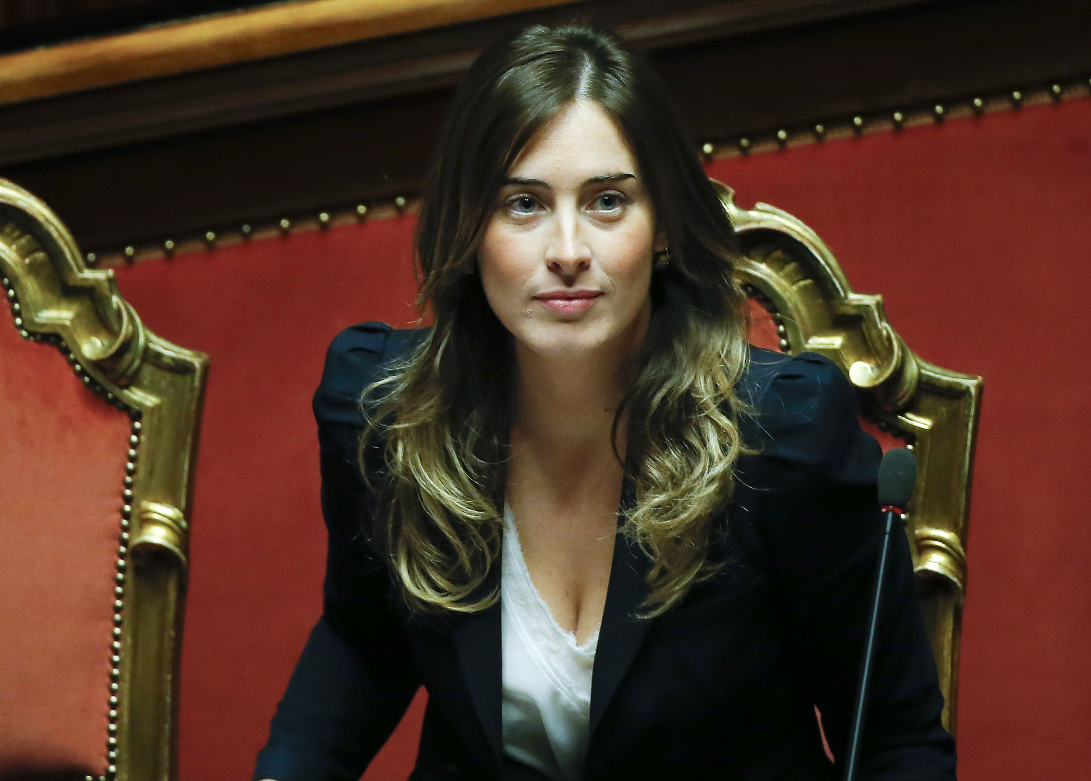 Italy's Minister for Constitutional Reforms and Parliamentary Relations Boschi looks on during a confidence vote at the Senate in Rome
