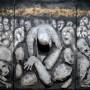 """""""Foibe"""" - Rocco Cerchiara e Andrea Cardia -  tecnica mista su multistrato, 300×150"""