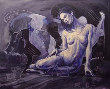 """Constantin Migliorini - Attesa"""" (Olio su tela - 100x120 cm)"""