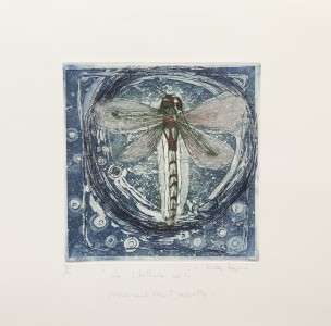 S.Zappone,Me and the Dragonfly, etching,aquatint, 39x40cm