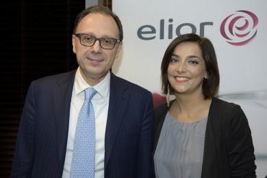 l'amministratore delegato del Gruppo Elior Rosario Ambrosino con la blogger e tecnologa alimentare Lisa Casali