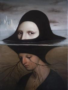 Alessandro Sicioldr, La Sibilla. Olio su tavola, 30x40 cm, 2016