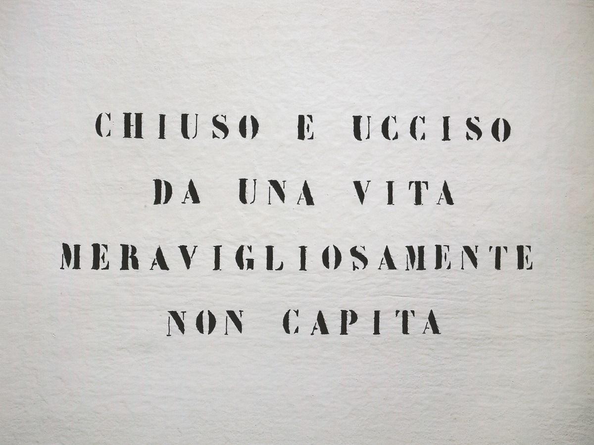 Vincenzo Agnetti, Ritratto di uomo. 1971 (75 x 100 cm). Courtesy Archivio Vincenzo Agnetti