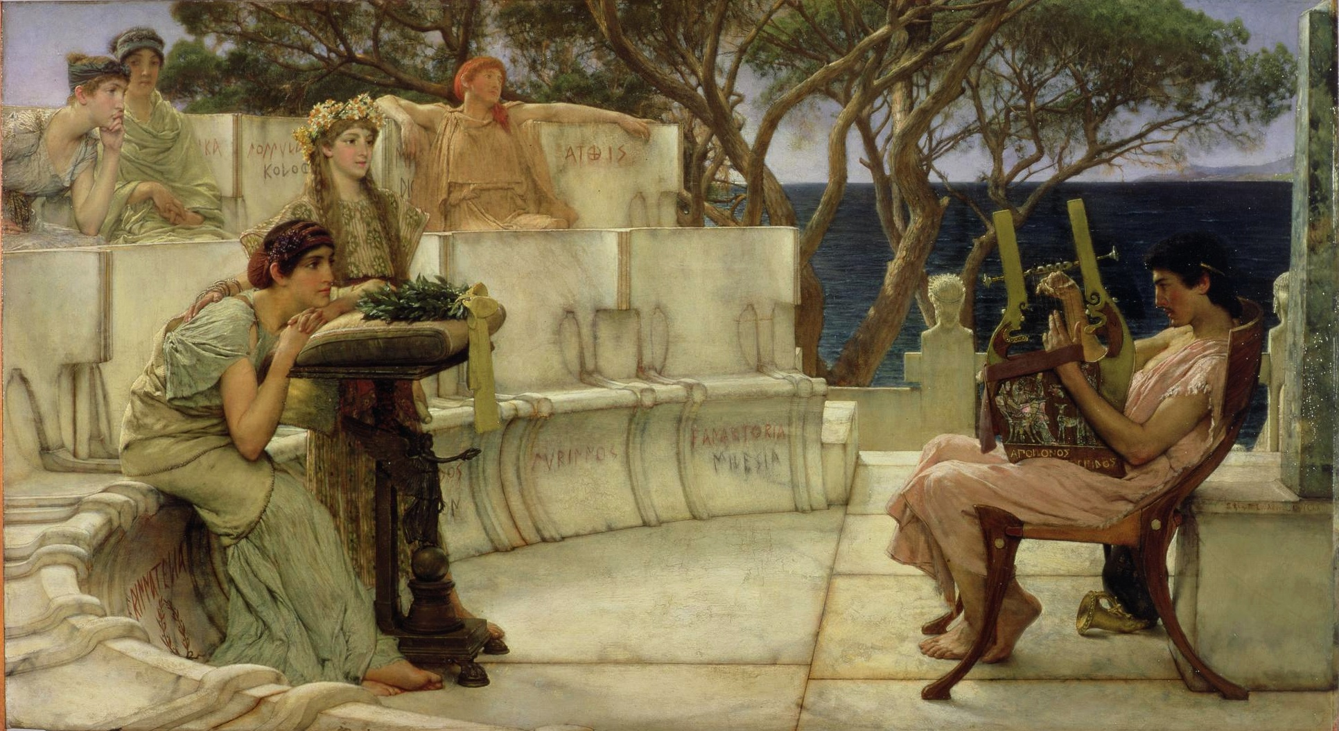 Lawrence Alma-Tadema, Sappho and Alcaeus