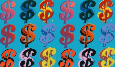 Andy Warhol, Dollar Sign 9 285, 1982