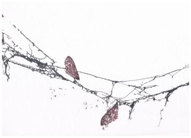 ANATOMIA DELL'INCONSCIO,2012, scrittura a china su carta da restauro