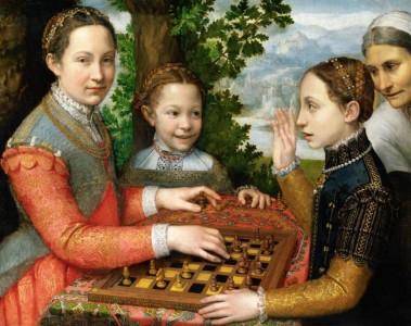 Sofonisba Anguissola, La partita a scacchi, 1555, olio su tela, 72 × 97 cm [Public domain], via Wikimedia Commons