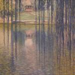 Teodoro Wolf Ferrari, Salici sul lago, 1915 olio su tela, cm 85 X 100. Padova, Courtesy Galleria Nuova Arcadia di L. Franchi