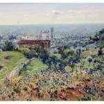 Teodoro Wolf Ferrari, Veduta di San Zenone degli Ezzelini, 1921 olio su compensato, 34,5 X 45 cm. Padova, Courtesy Galleria Nuova Arcadia di L. Franchi