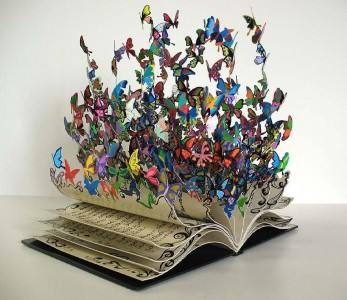 The Book of Life' by David Kracov, Free standing mixed media metal sculpture 60 x 45 x 50cm (http://www.david-kracov.com/portfolio/david-kracov-book-of-life/)