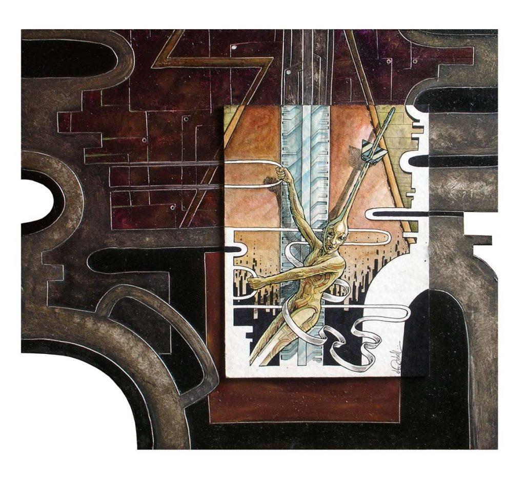 Luca Corbellini è il vincitore del Premio Arti Visive CulturaIdentità con un'opera che è un crossover di istanze futuriste e visionarietà post surrealiste