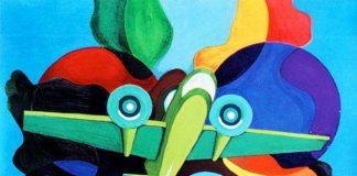 U.L. Ronco, Aeropittura sfrecciante negli spazi, pagina ufficiale FB Museo del Futurismo Alberto Viviani Burali