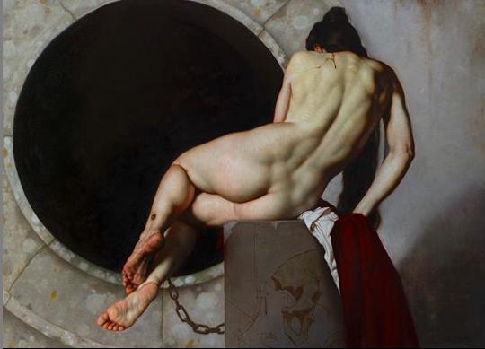 Roberto Ferri ANIMA MUTA tempera grassa su tela 80 x 110 cm anno 2019
