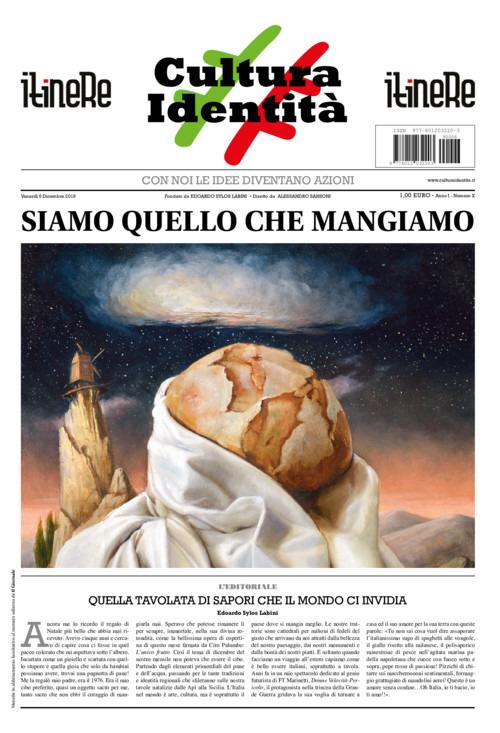 Dicembre tempo di Natale il numero di #CulturaIdentità è incentrato sul cibo. Leggerete l'intervista inedita a Matteo Salvini che sbeffeggia chef Rubio